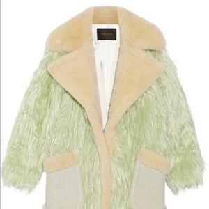 Coach shearling runway coat